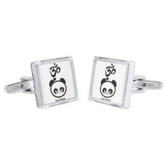 Love Panda® Silver Finish Cufflinks