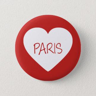 Love Paris heart 6 Cm Round Badge