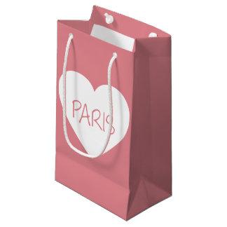 Love Paris heart Small Gift Bag