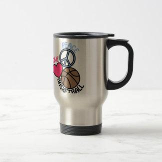 Love Peace Basketball Stainless Steel Travel Mug