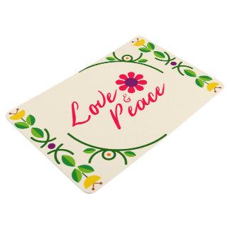 Love & Peace Custom doormat Floor Mat