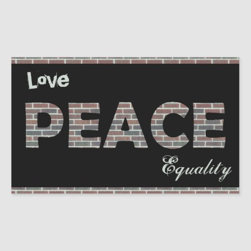 Love, Peace, Equality Stickers