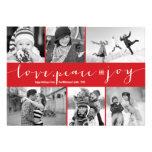 Love Peace Joy Multi Grid Holiday Photo Greetings Invitation