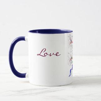 """Love, Peace Lillies"" Mug - Customizable"