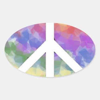 Love Peace Oval Sticker