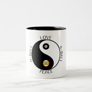 Love Peace pool mugs