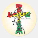 LOVE & PEACE ROUND STICKER