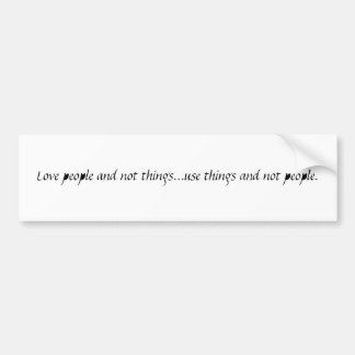 Love People Bumpersticker Car Bumper Sticker