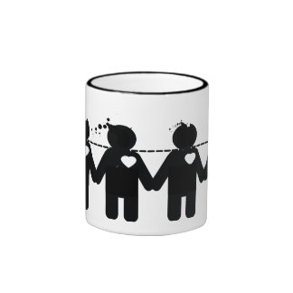 love people ringer mug