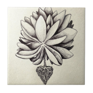 love plant art sketch tattoo heart roots beautiful small square tile