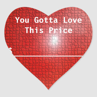 Love Price Sticker