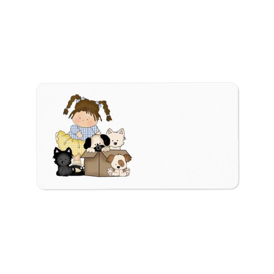 Love Puppies Address Label