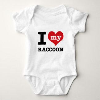love Racoon Baby Bodysuit