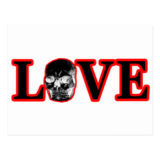 Love Red Skull Black The MUSEUM Zazzle Gifts Post Card