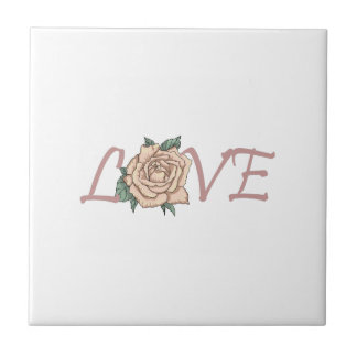 LOVE ROSE SMALL SQUARE TILE