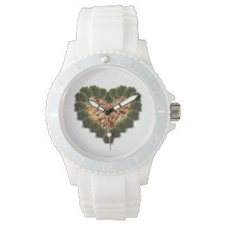 LOVE Seaweed & Shells Heart watch design