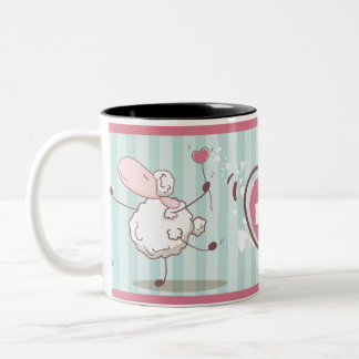 Love Sheep Two-Tone Coffee Mug