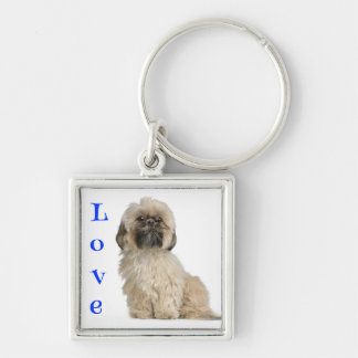 Love Shih Tzu Puppy Dog Custom Keychain