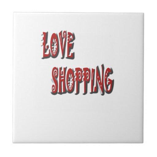 love shopping tile