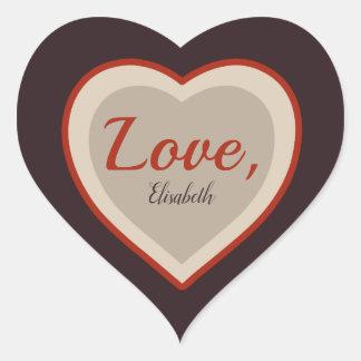 Love signature Valentine Elegant retro  CC0982 Heart Sticker