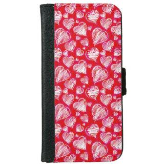 Love Sketch iPhone 6 Wallet Case