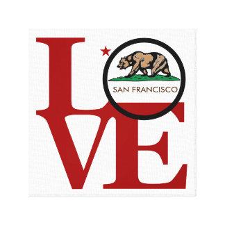 LOVE Squared San Francisco Stretched Canvas Print