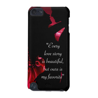Love story quote kiss lover background iPod touch (5th generation) case