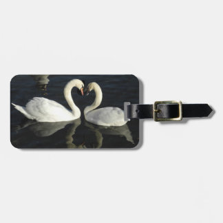 Love Swans luggage tag