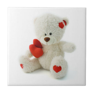 Love Teddy Valentine ceramic tile