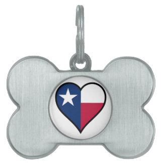 Love Texas Pet Name Tag