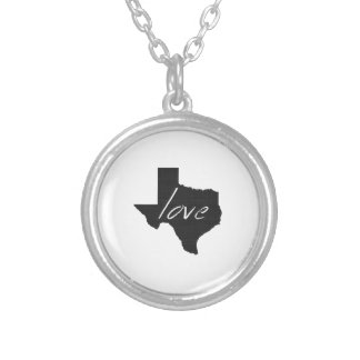 Love Texas Silver Plated Necklace