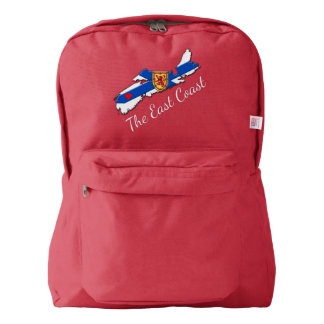 Love The East Coast Heart N.S. backpack red