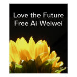 """ Love the Future - Free Ai Weiwei "" Large Posters"