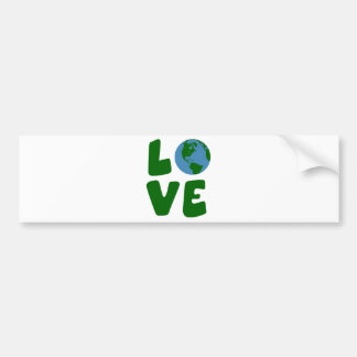 Love the Mother Earth Planet Bumper Sticker