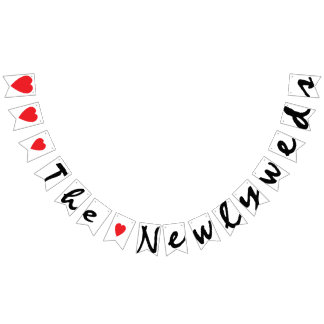 """LOVE"" THE NEWLYWEDS Wedding Sign Decor Bunting"