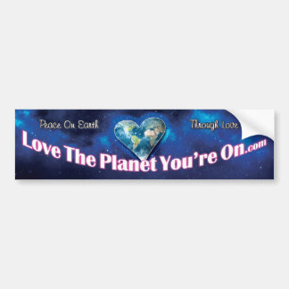 Love The Planet You're On Bumper Sticker