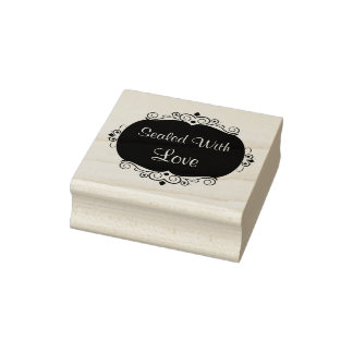 Love Theme Emblem Rubber Stamp