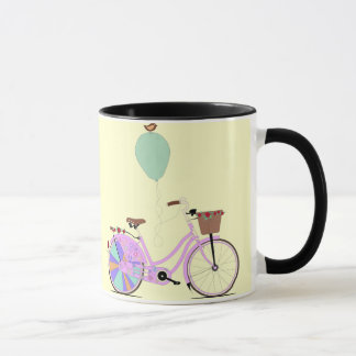 Love to Cycle on my Pink Bike by Andy Scullion Mug
