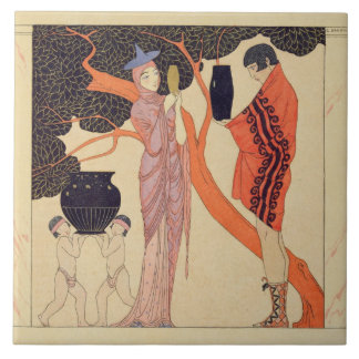 Love Token (w/c on paper) Tiles