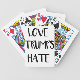 Love Trumps Hate Inspiring Nation Bicycle Playing Cards