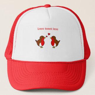 Love tweet love robins trucker hat