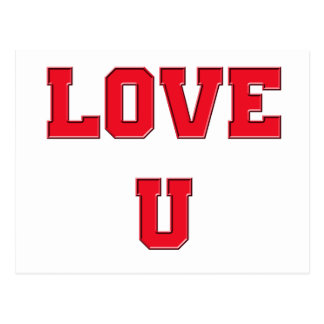 Love U you romance design Valentine's Day Postcard