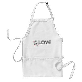 LOVE Vine with Hearts Standard Apron