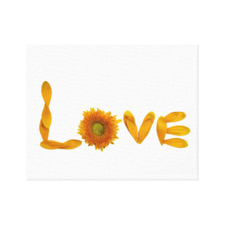 Love Wall Decor Stretched Canvas Print