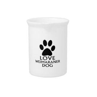 LOVE WEIMARANER DOG DESIGNS PITCHER