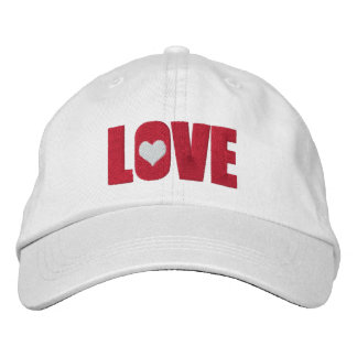 Love With Heart Detail Embroidered Hat