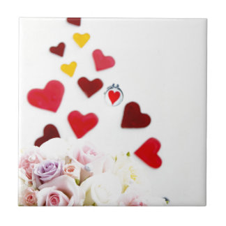 Love with Rose Small Square Tile