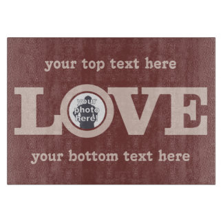 LOVE with YOUR PHOTO custom cutting board