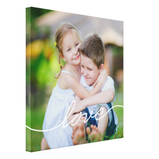 LOVE Writing Custom Photo Canvas Canvas Print