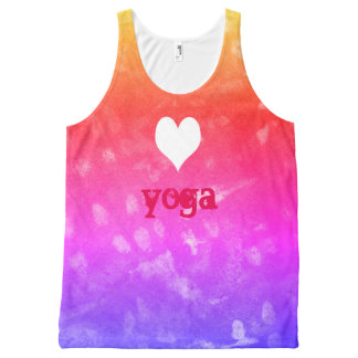 love yoga All-Over print singlet